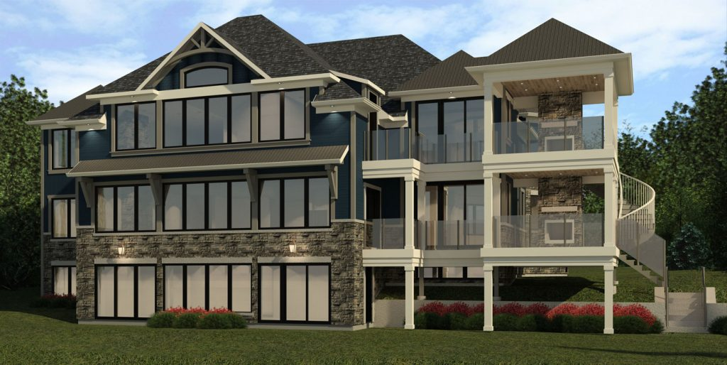 Custom home design 3d rendering Toronto