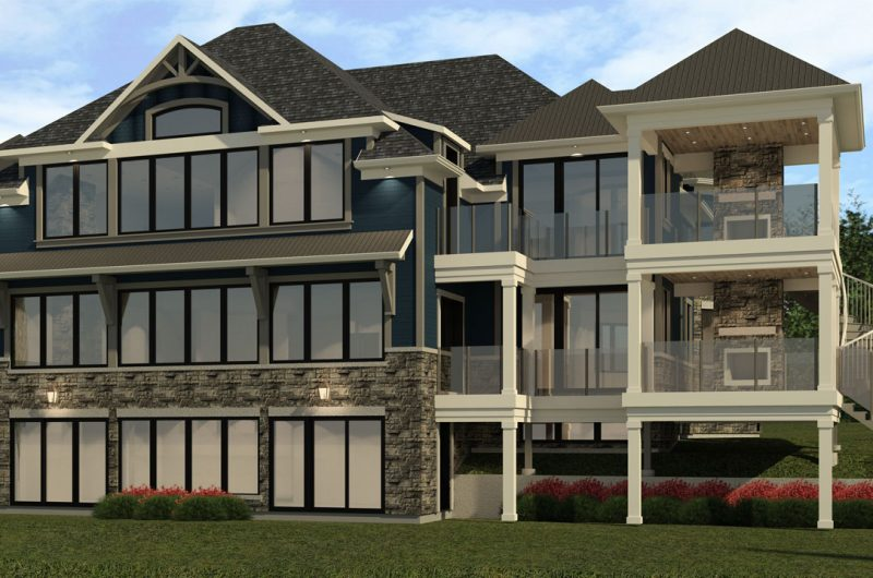 Custom home design 3d rendering Toronto